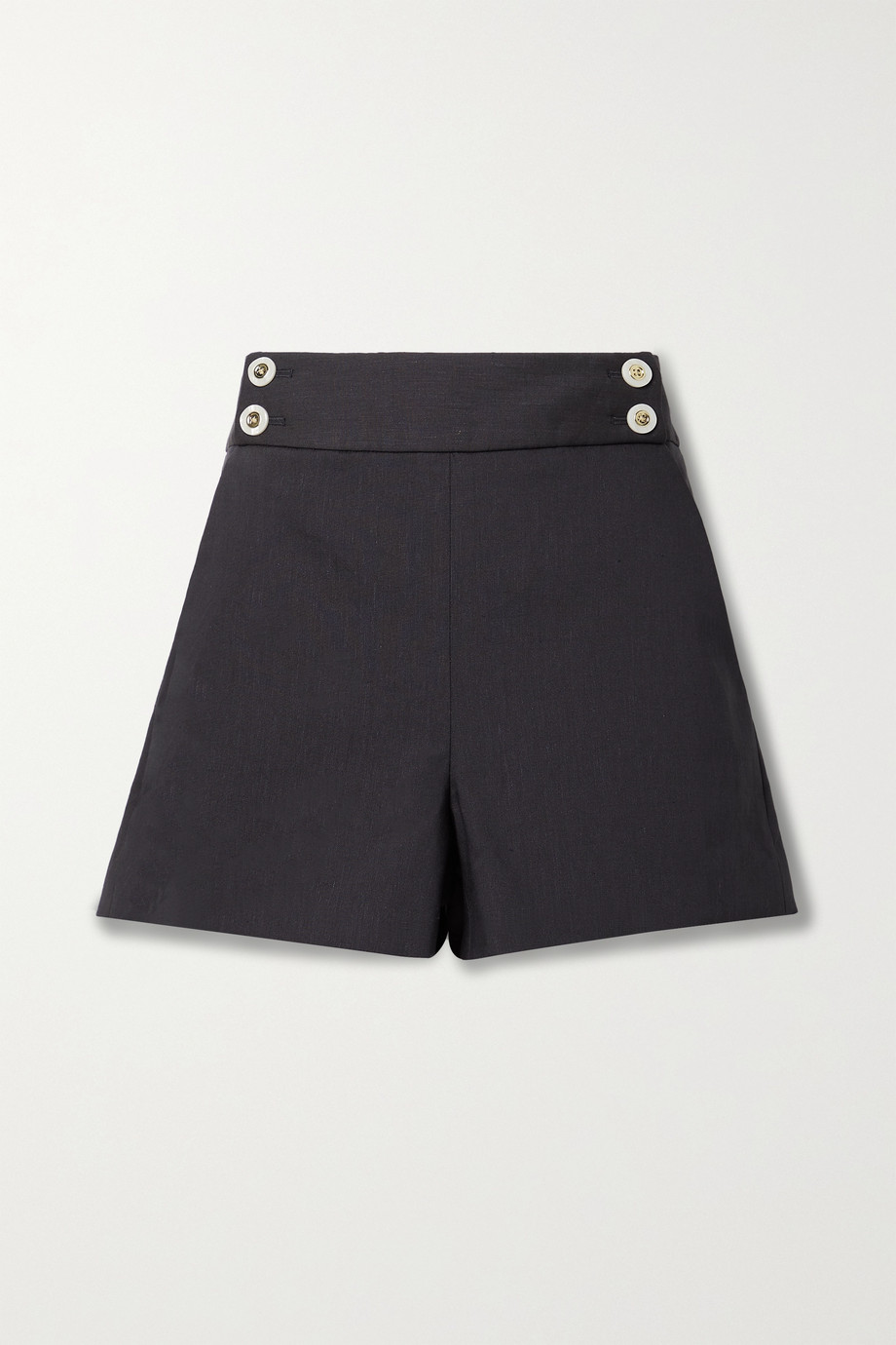 Veronica Beard Kimm button-embellished linen-blend shorts