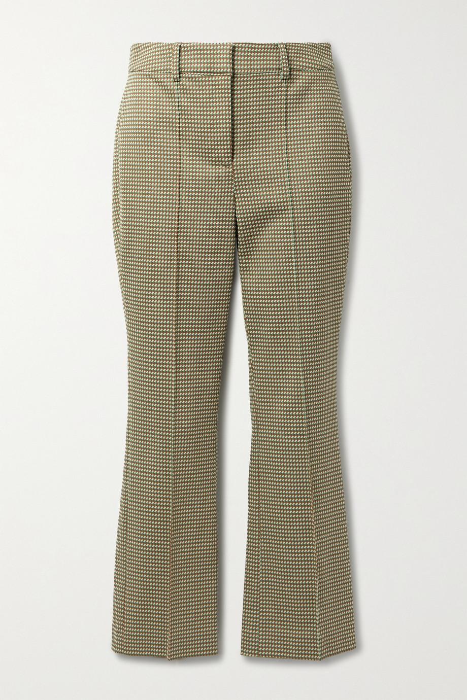 Veronica Beard Gani cropped jacquard flared pants