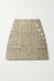 Veronica Beard Bond cotton-blend tweed mini skirt