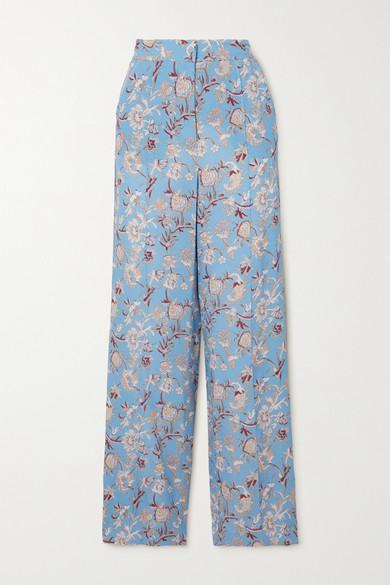 Veronica Beard Straight pants POMELINE FLORAL-PRINT CREPE DE CHINE STRAIGHT-LEG PANTS
