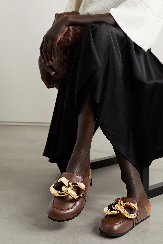 JW Anderson Slippers aus Leder mit Kette