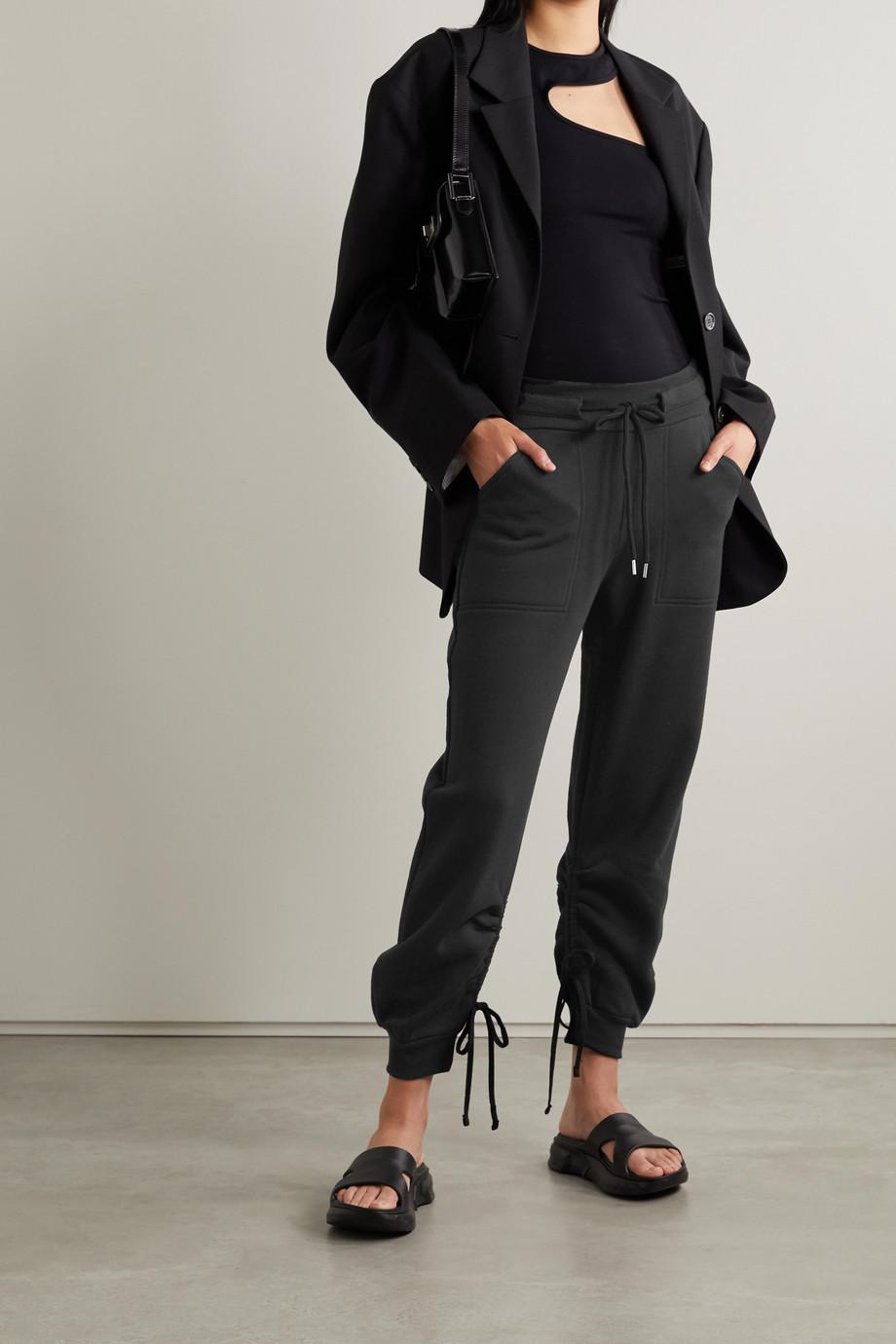 The Range Pantalon de survêtement en molleton de coton mélangé à liens Contra