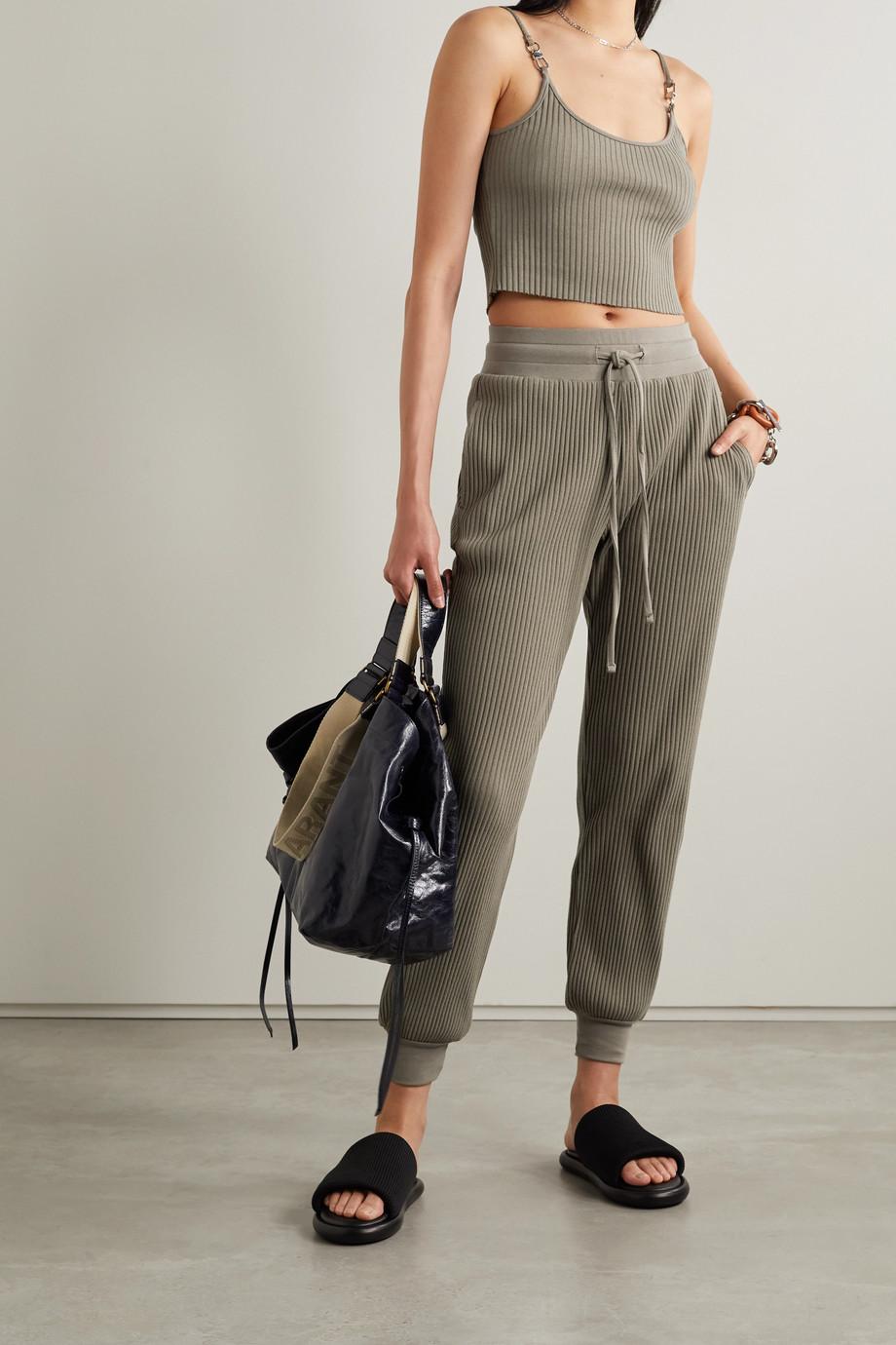 The Range Pantalon de survêtement en jersey de coton stretch côtelé Vital