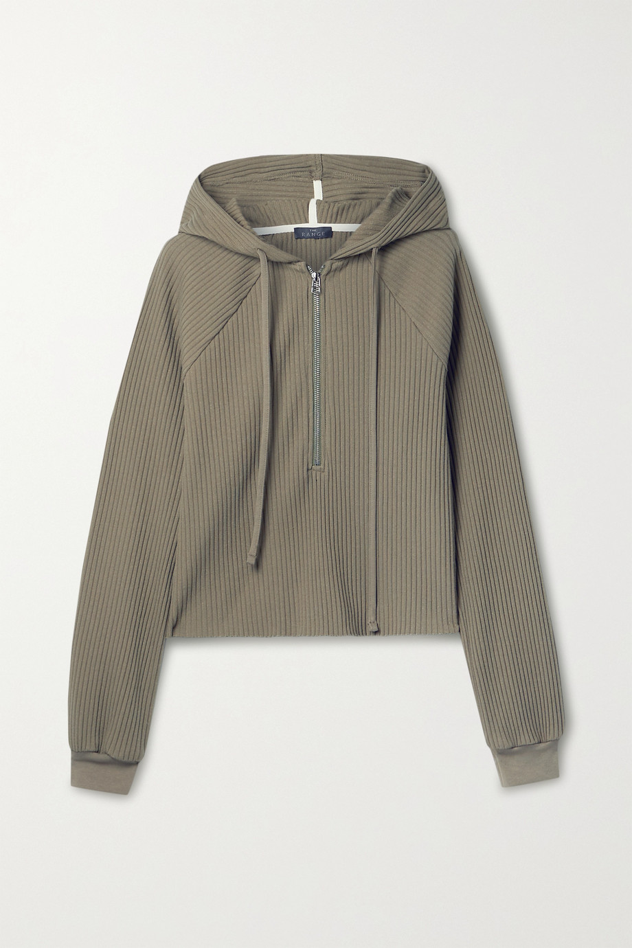 The Range Vital ribbed stretch-cotton jersey hoodie