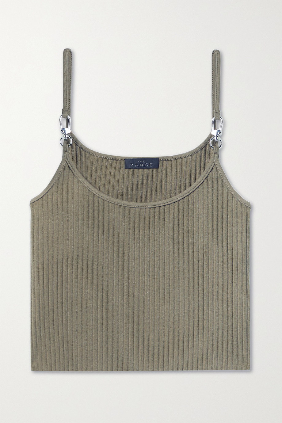 The Range Vital cropped ribbed stretch-cotton jersey tank