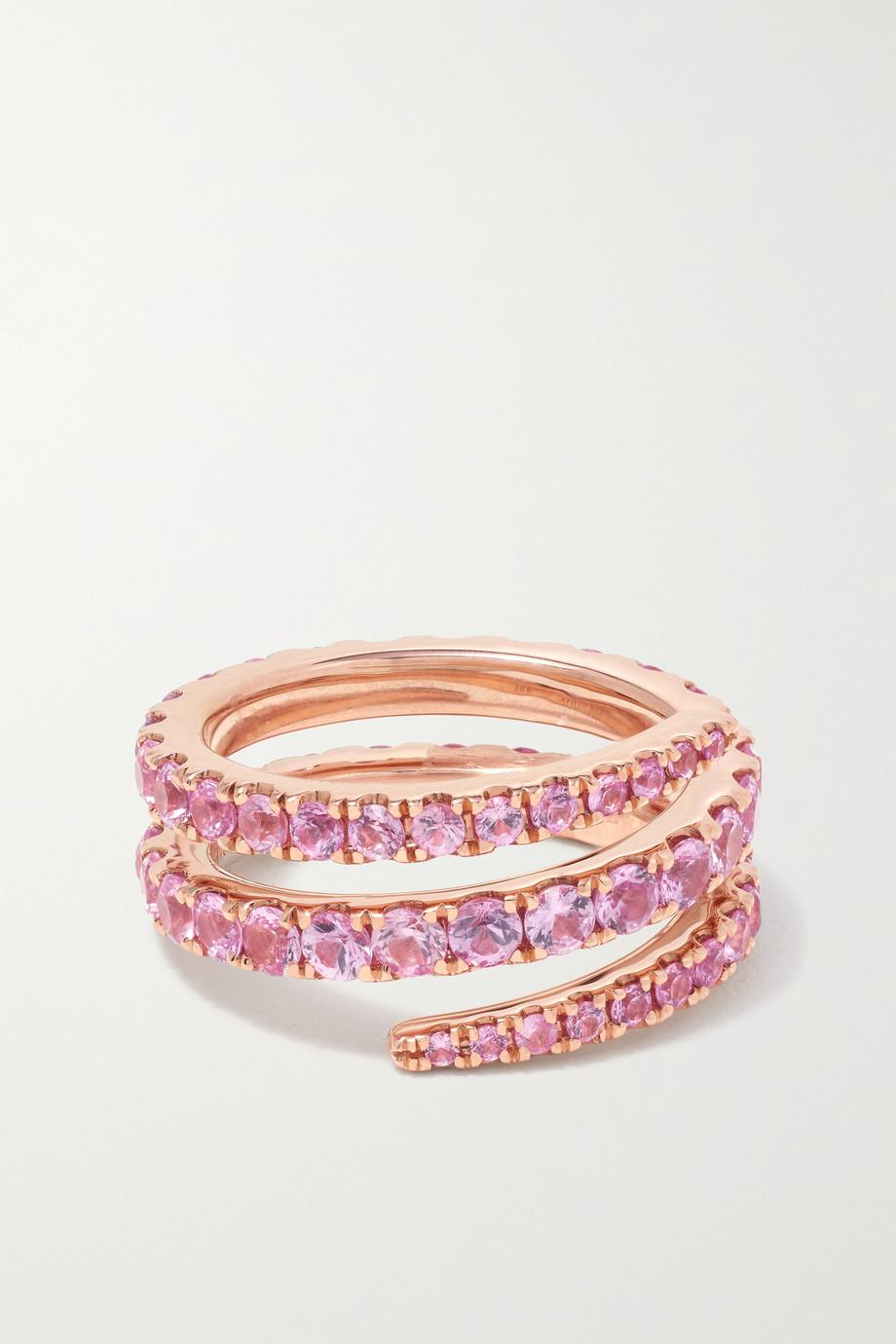 Anita Ko Coil 18-karat rose gold sapphire ring