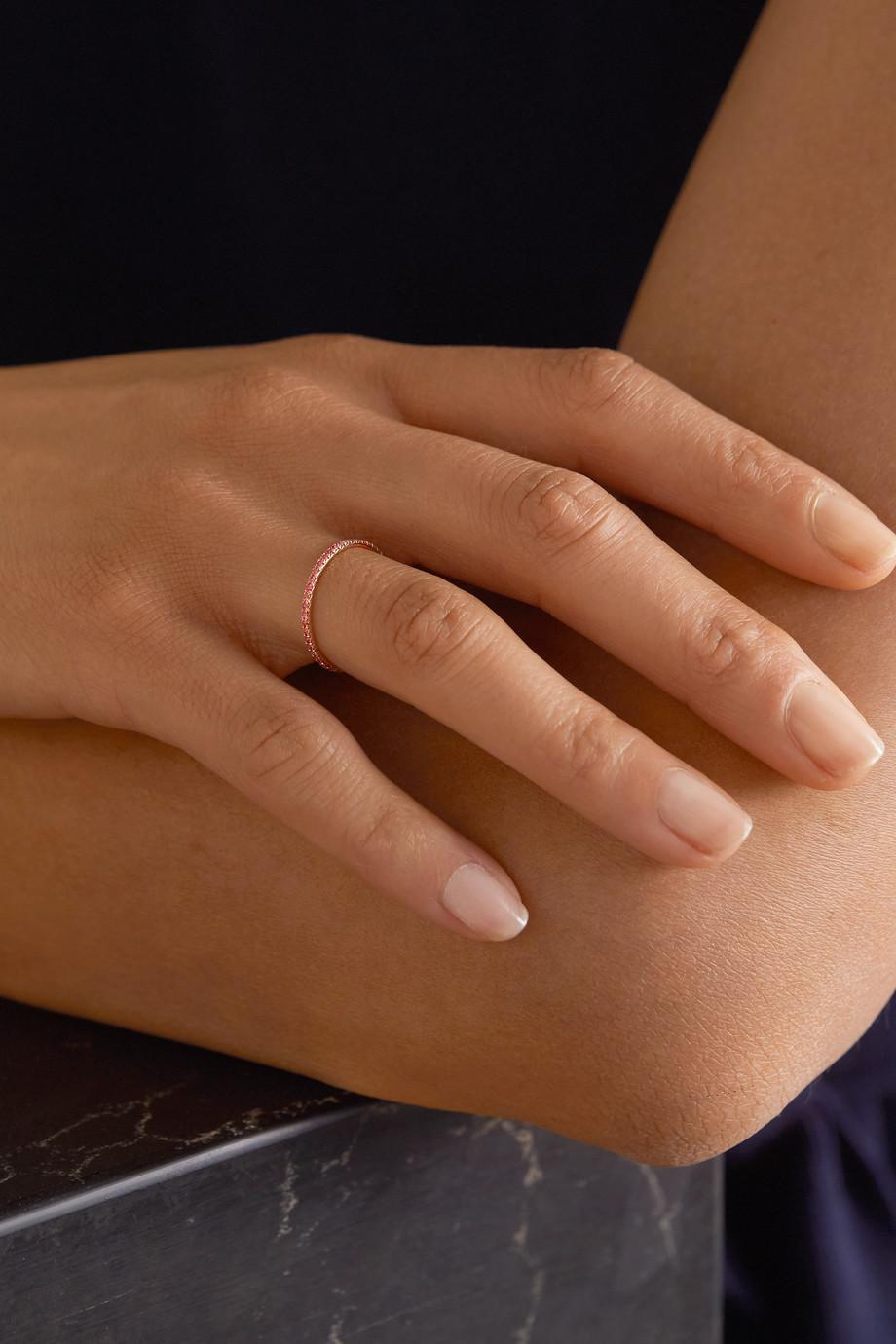 Anita Ko 18-karat rose gold sapphire eternity ring