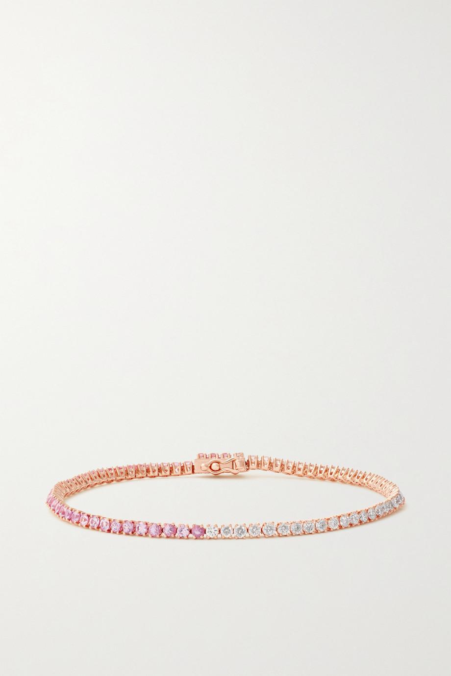 Anita Ko Hepburn 18-karat rose gold, sapphire and diamond bracelet