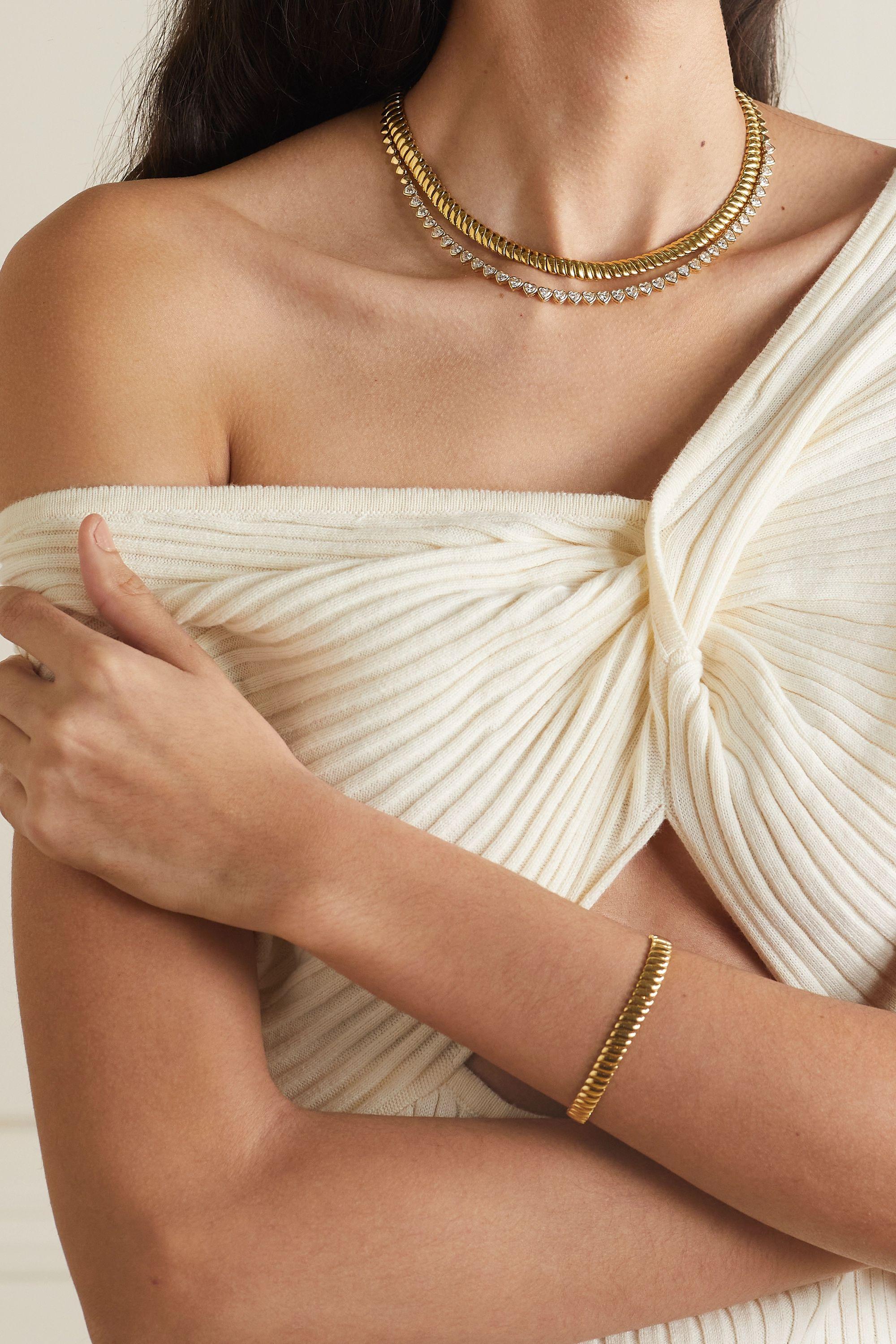 Anita Ko Heart Kette aus 18 Karat Gold mit Diamanten