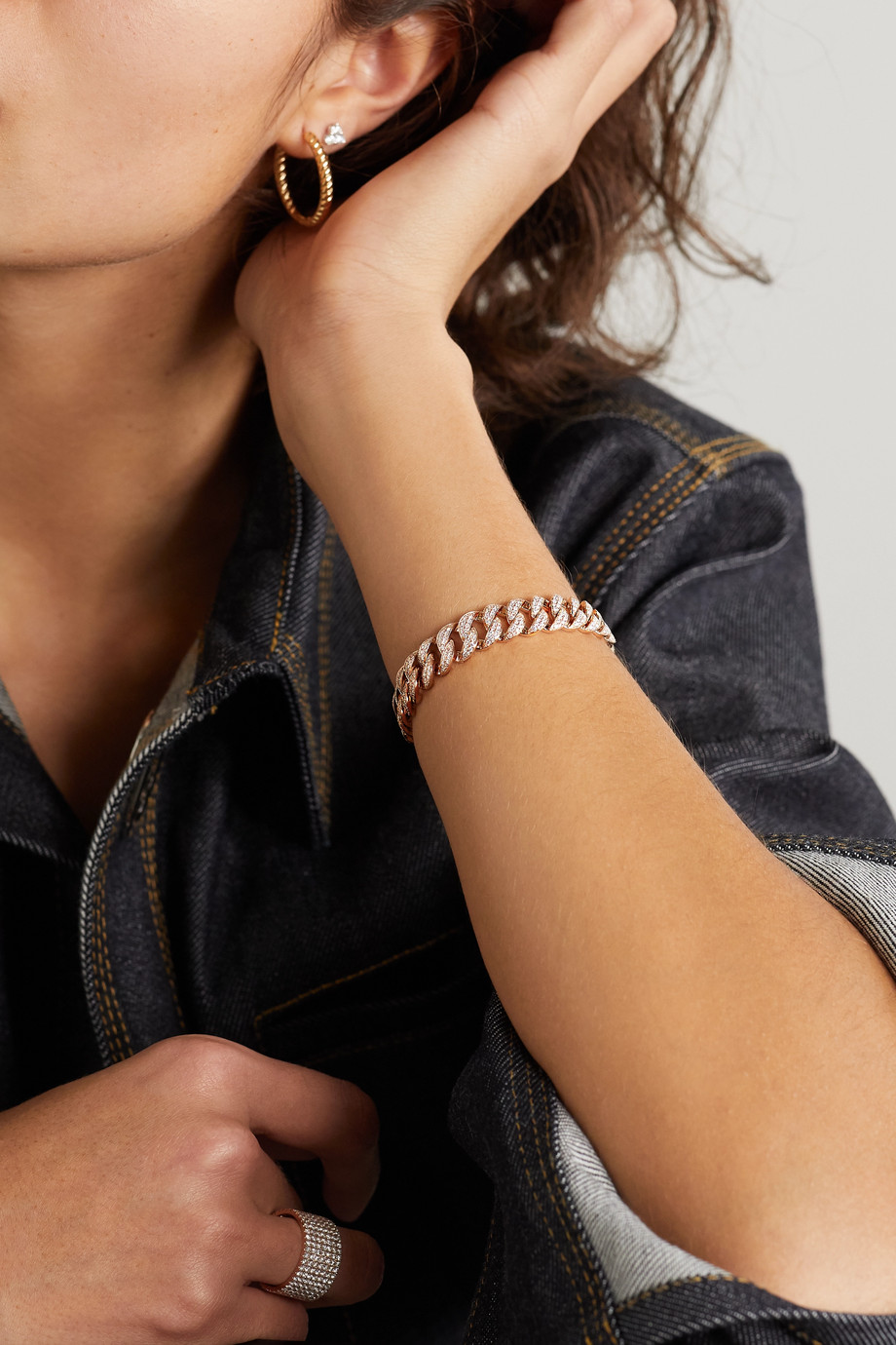 Anita Ko Havana small 18-karat rose gold diamond bracelet