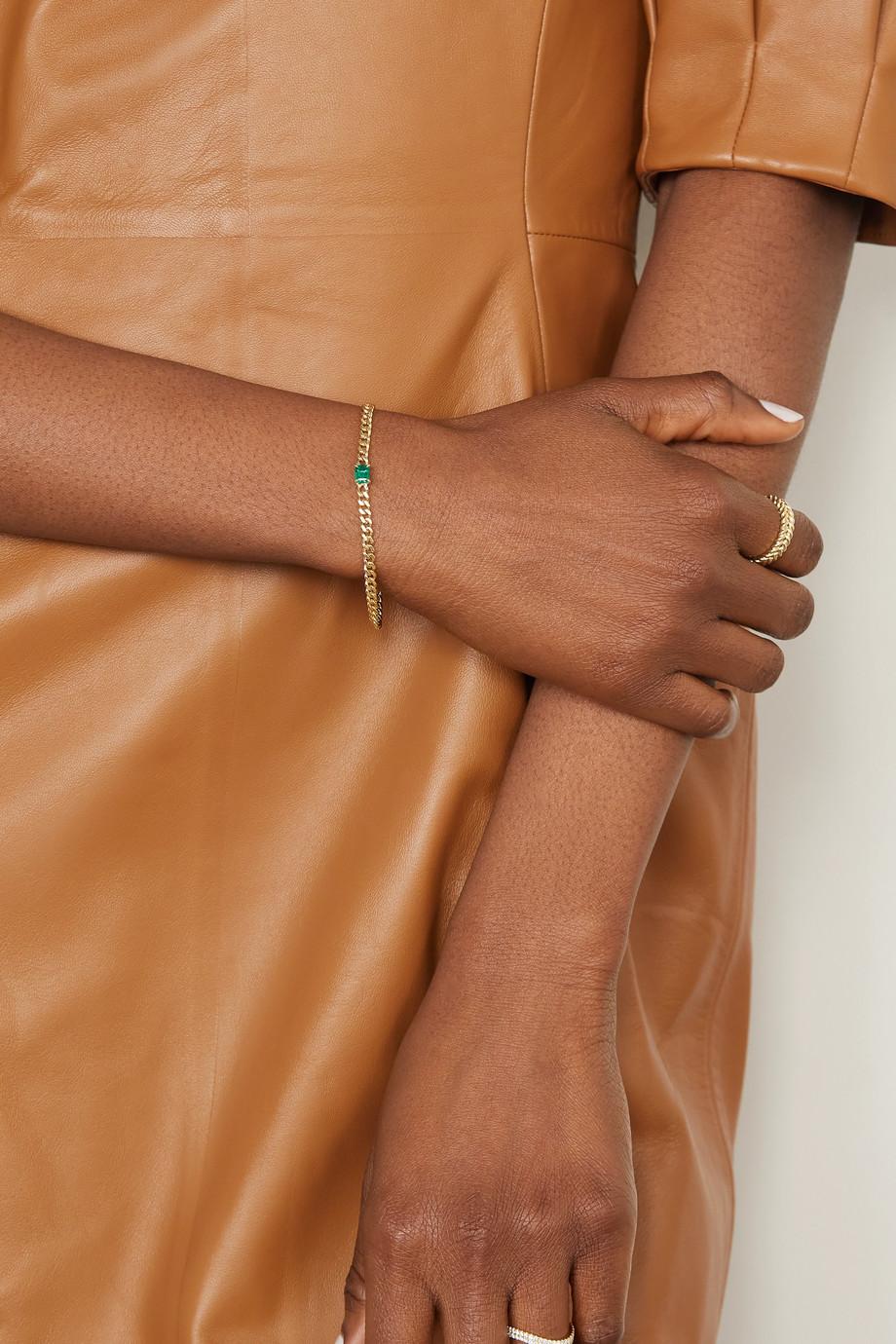 Anita Ko 18-karat gold emerald bracelet