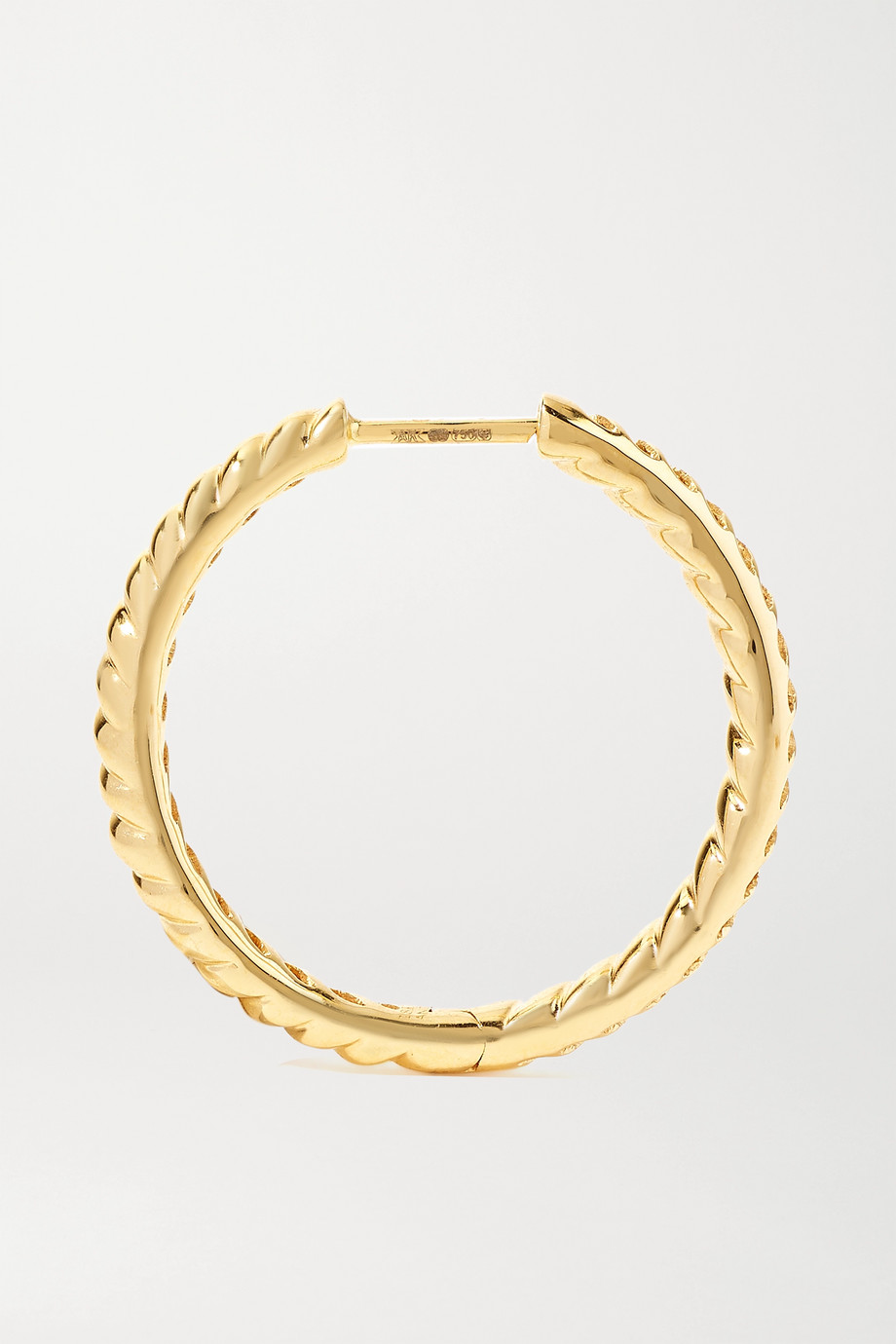 Anita Ko Zoe 18-karat gold hoop earrings