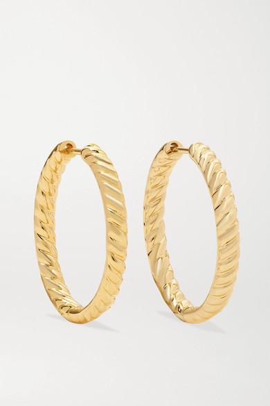 Anita Ko Zoe 18-karat Gold Hoop Earrings