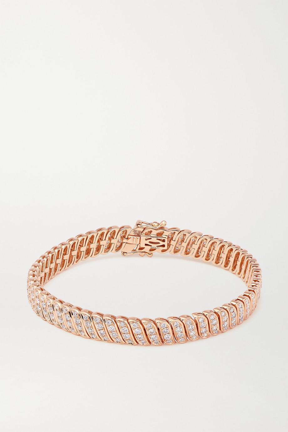 Anita Ko Bracelet en or rose 18 carats (750/1000) et diamants Zoe