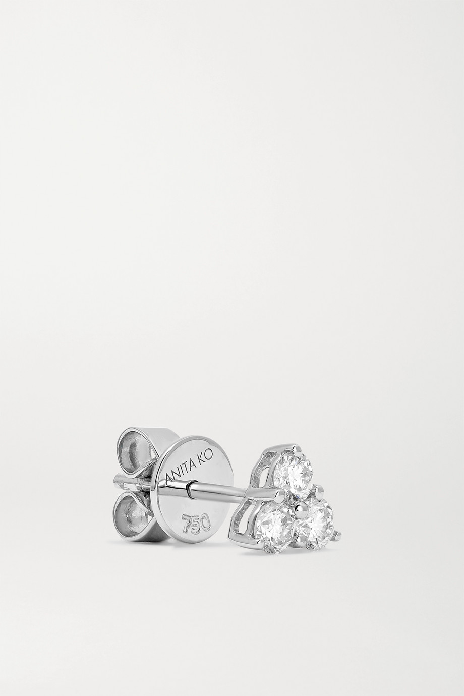 Anita Ko Trillion 18-karat white gold diamond earrings