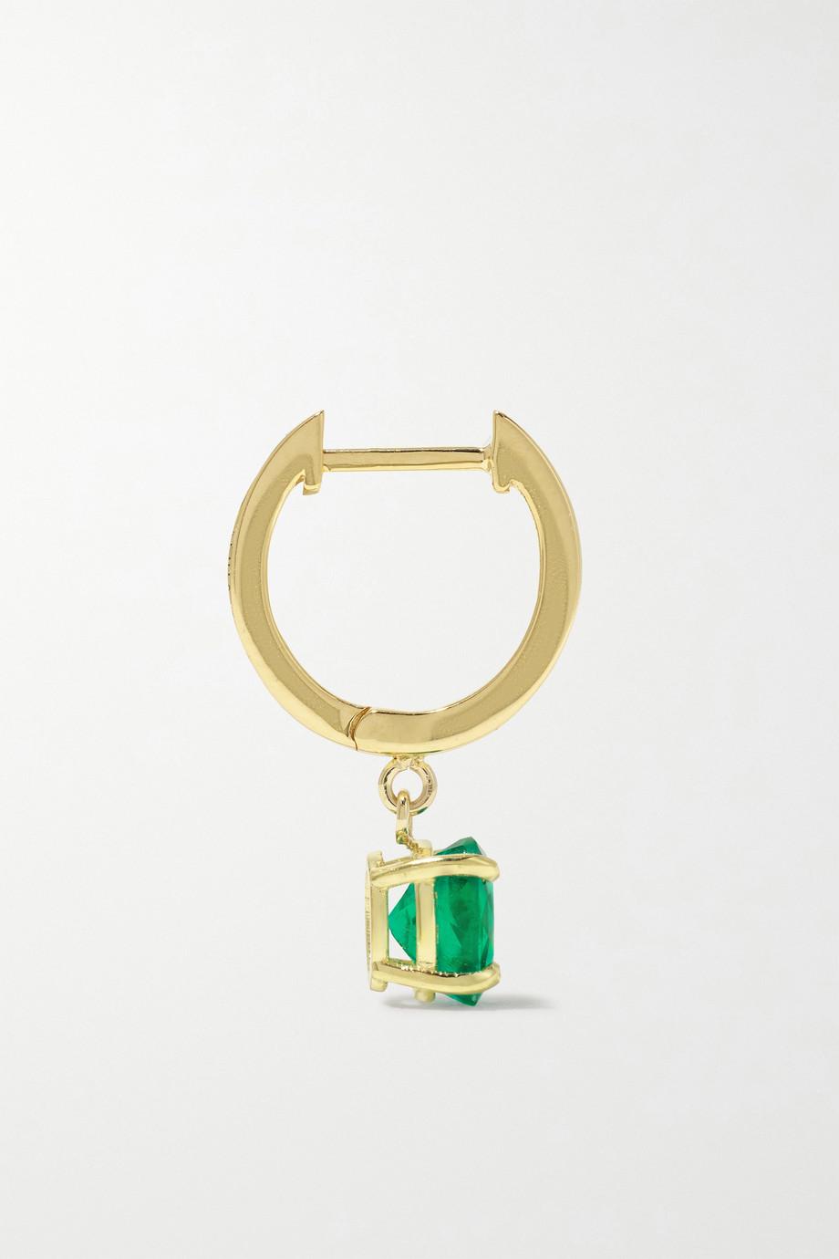 Anita Ko 18-karat gold emerald hoop earring