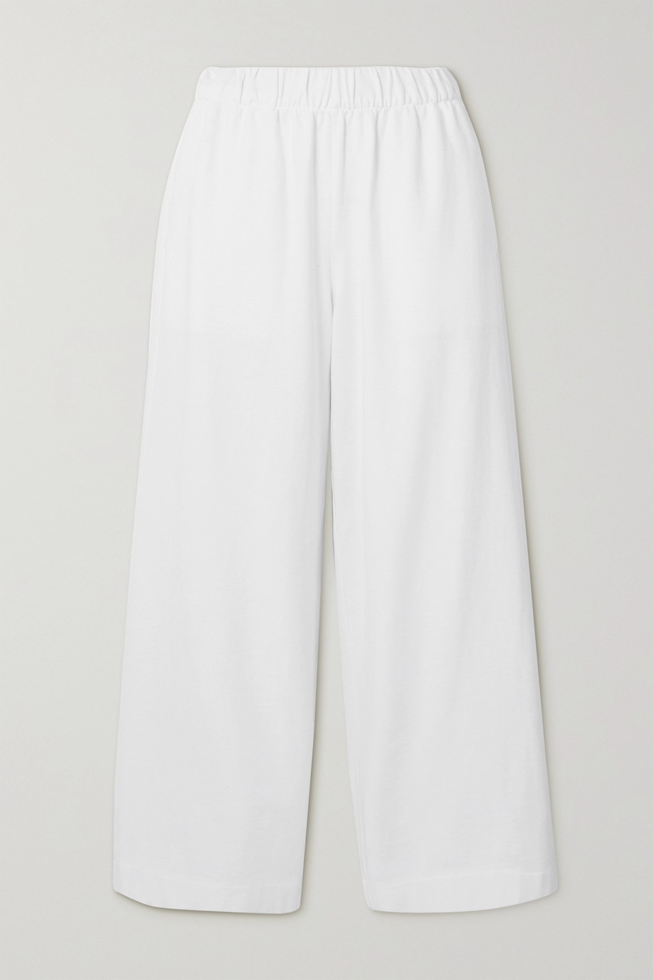 Vince Cropped ribbed cotton-jersey wide-leg pants