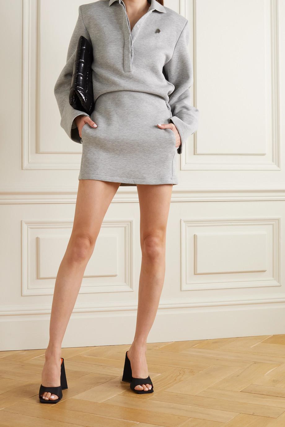 The Attico Irene mélange cotton-blend neoprene mini dress
