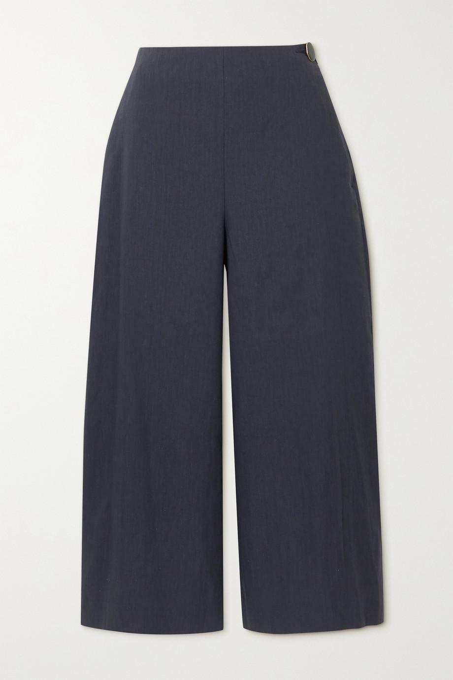 Vince Cropped linen-blend wide-leg pants