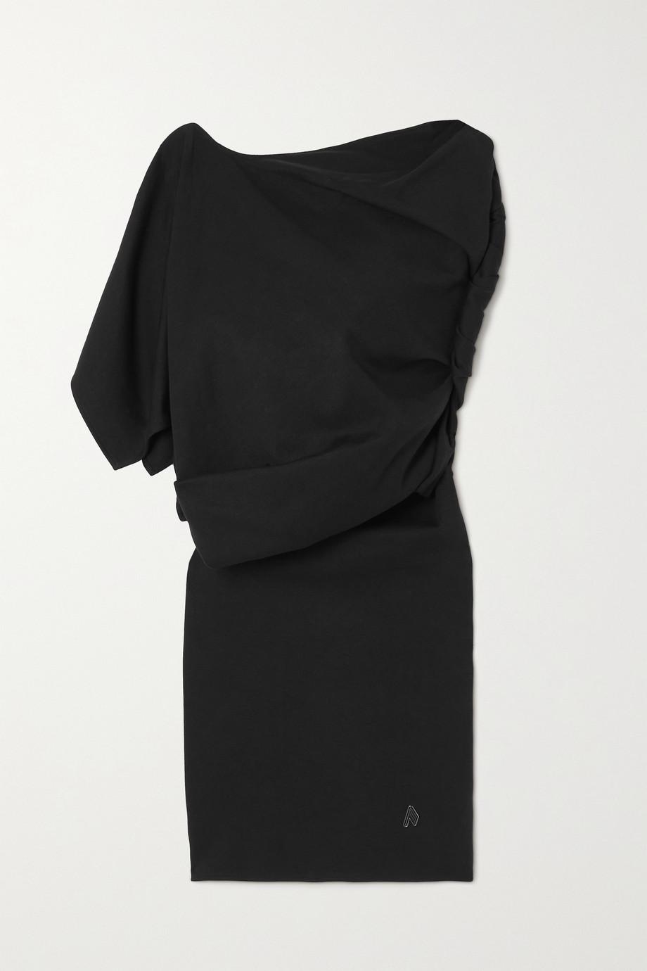 The Attico Mini-robe asymétrique en jersey de coton à drapé