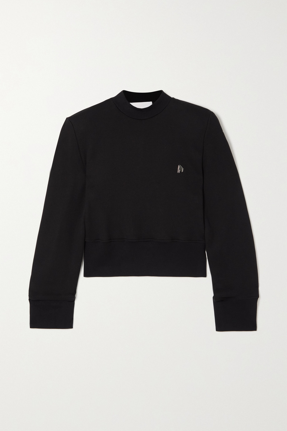 The Attico Kenna appliquéd cotton-jersey sweatshirt