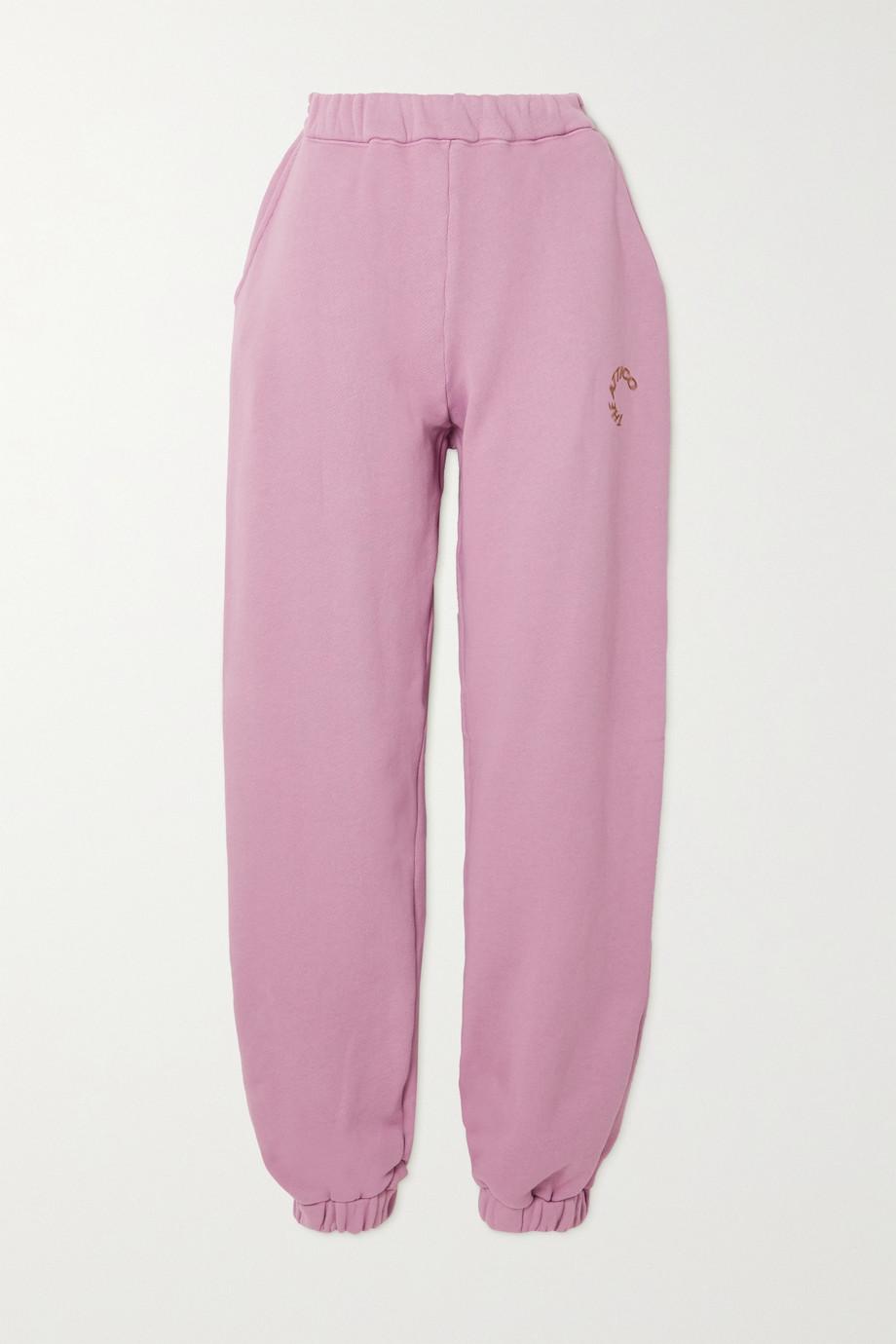 The Attico Pantalon de survêtement en jersey de coton imprimé Peggy