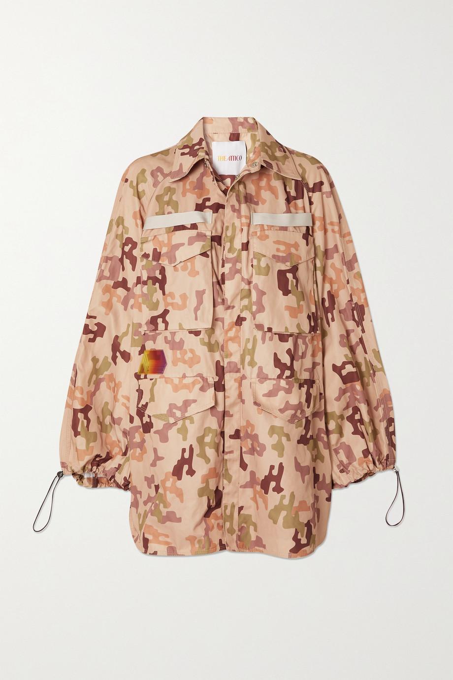 The Attico Dexter appliquéd camouflage-print twill jacket