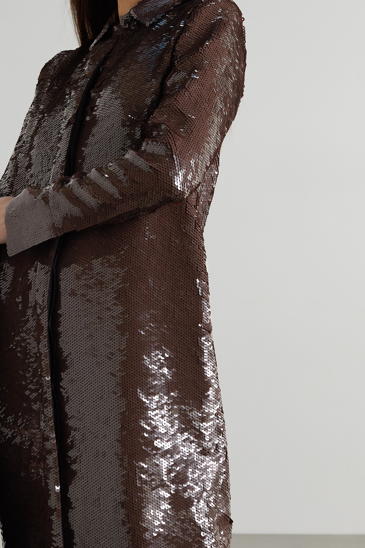 Proenza Schouler Sequinned silk shirt dress
