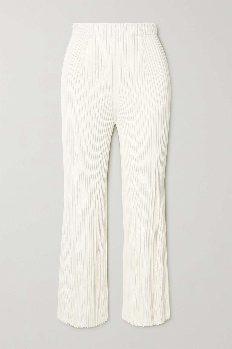 Proenza Schouler Hose mit geradem Bein aus Rippstrick