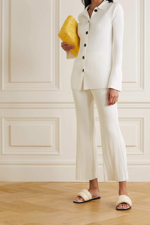 Proenza Schouler Ribbed-knit straight-leg pants