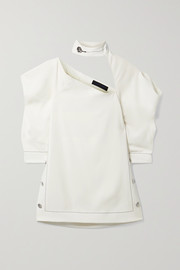 Proenza Schouler Button-detailed cutout crepe top
