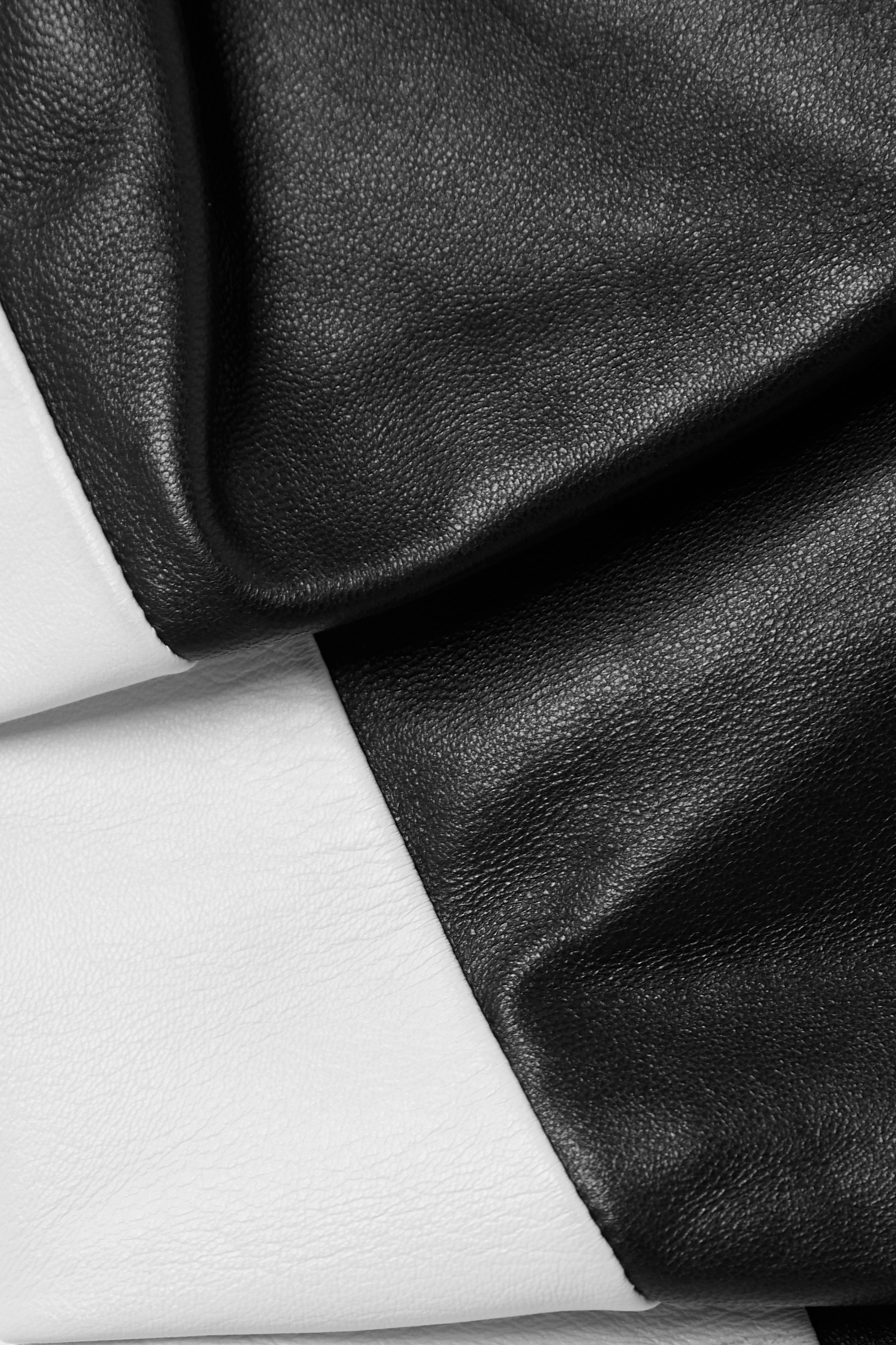 Proenza Schouler Two-tone gathered leather top