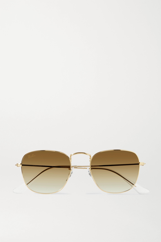 Ray-Ban Lunettes de soleil carrées dorées Frank