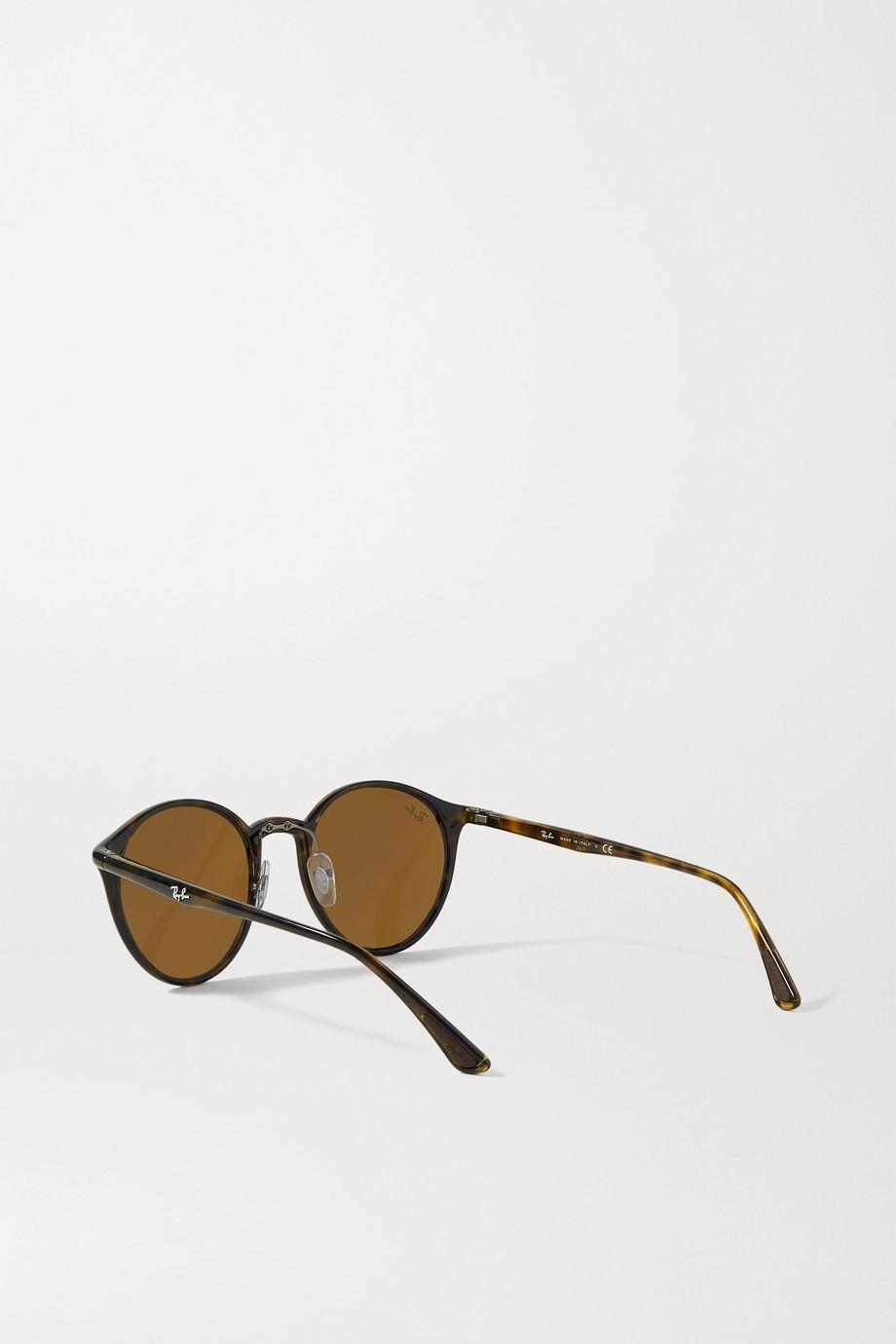 Ray-Ban Round-frame tortoiseshell acetate sunglasses