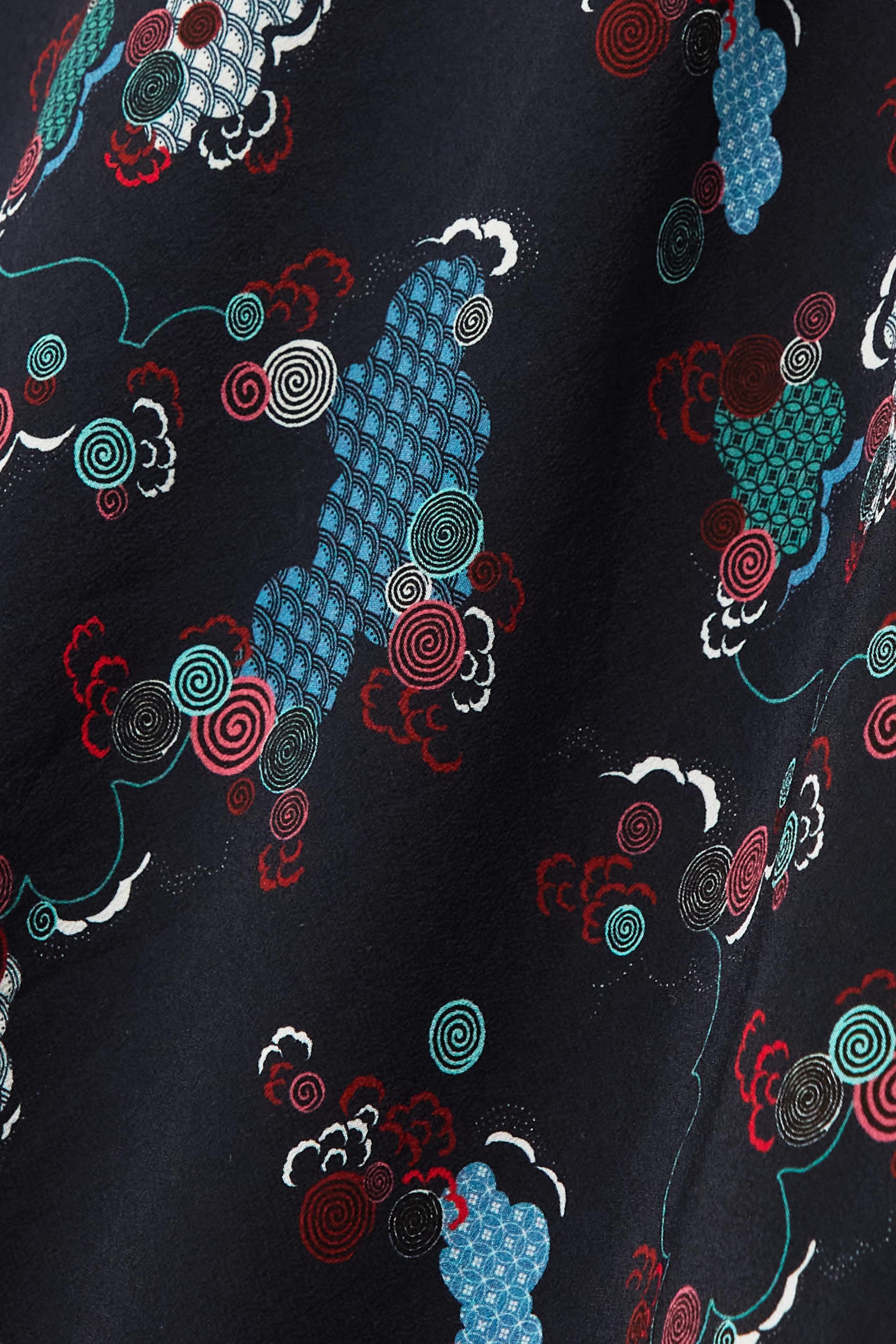 Cefinn Jupe midi en crêpe de Chine de soie imprimé Aria