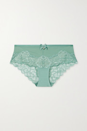 Chantelle Orangerie stretch-lace and tulle briefs