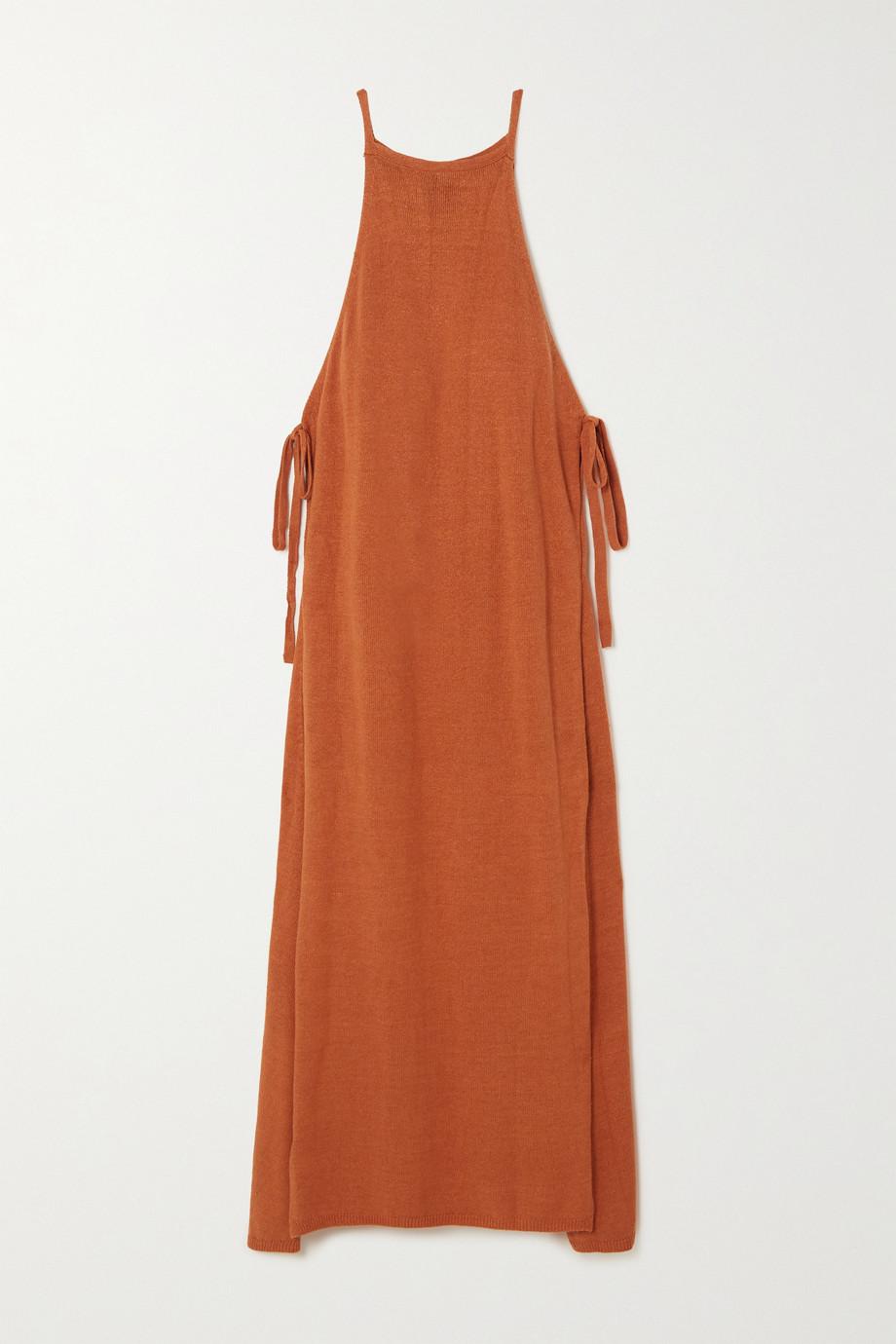 Cult Gaia Remi convertible linen-blend maxi dress