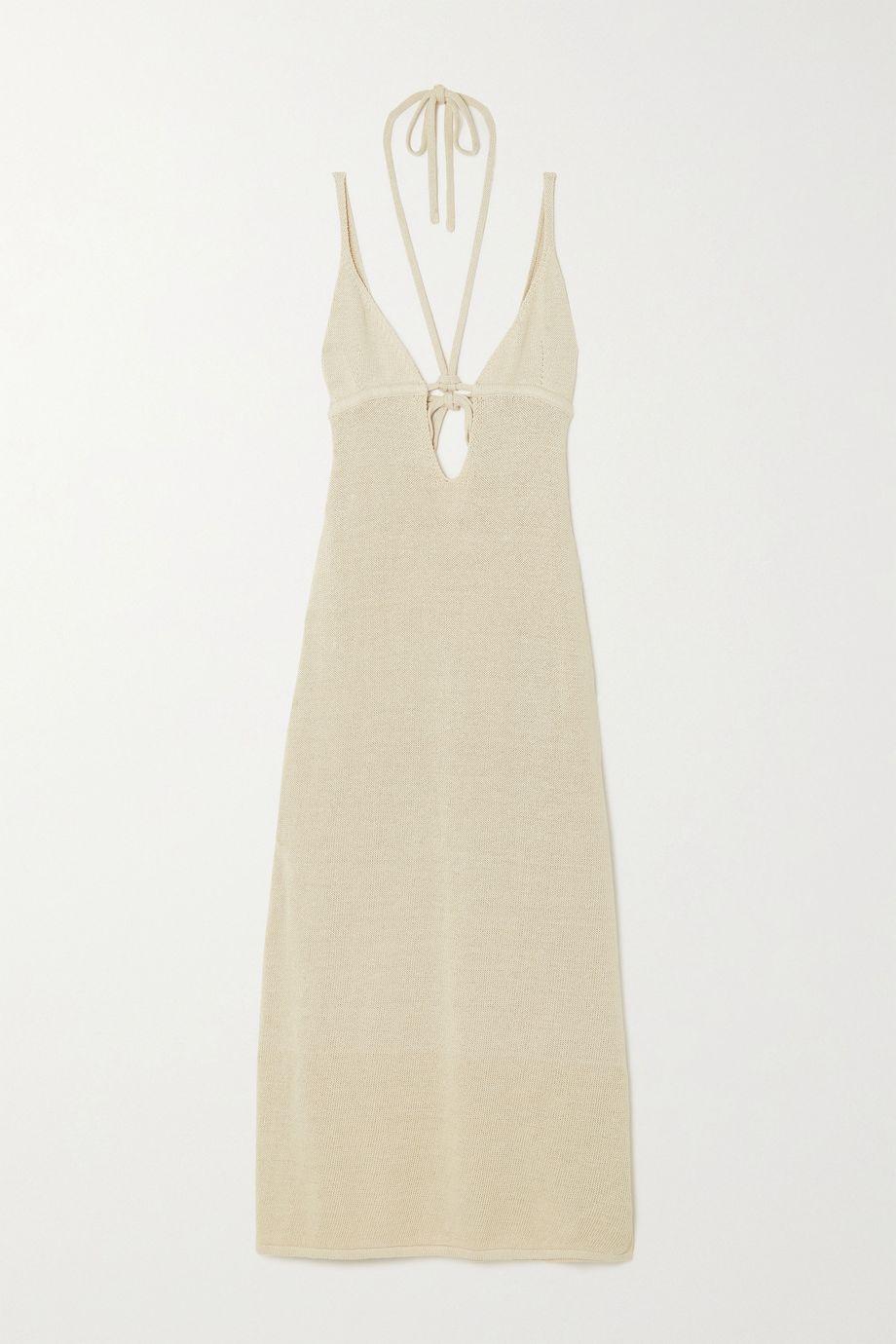 Cult Gaia Kingsley open-back linen-blend maxi dress