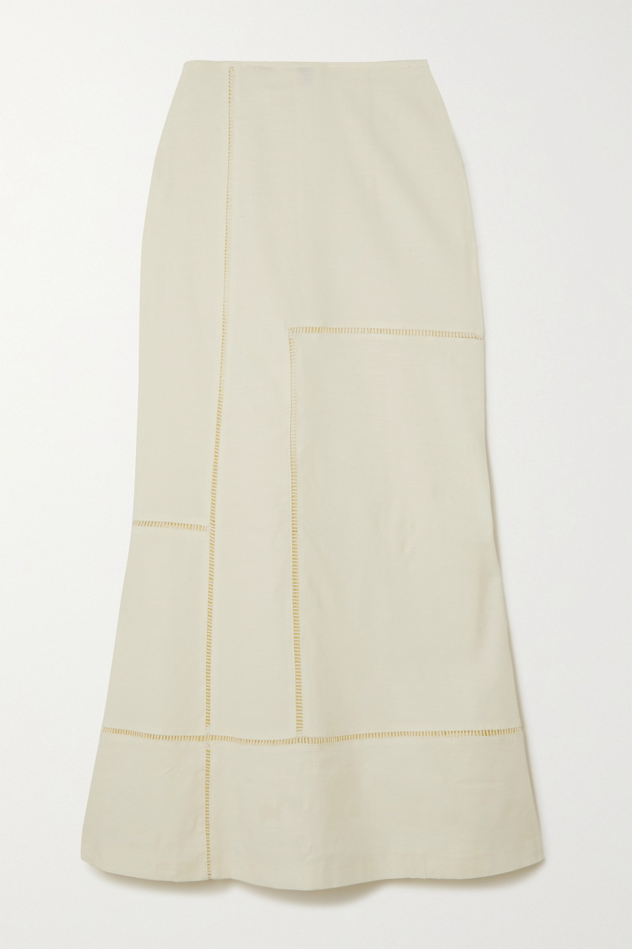 Cult Gaia Candice cutout linen-blend midi skirt