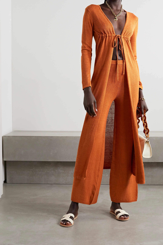 Cult Gaia Nina linen-blend cardigan
