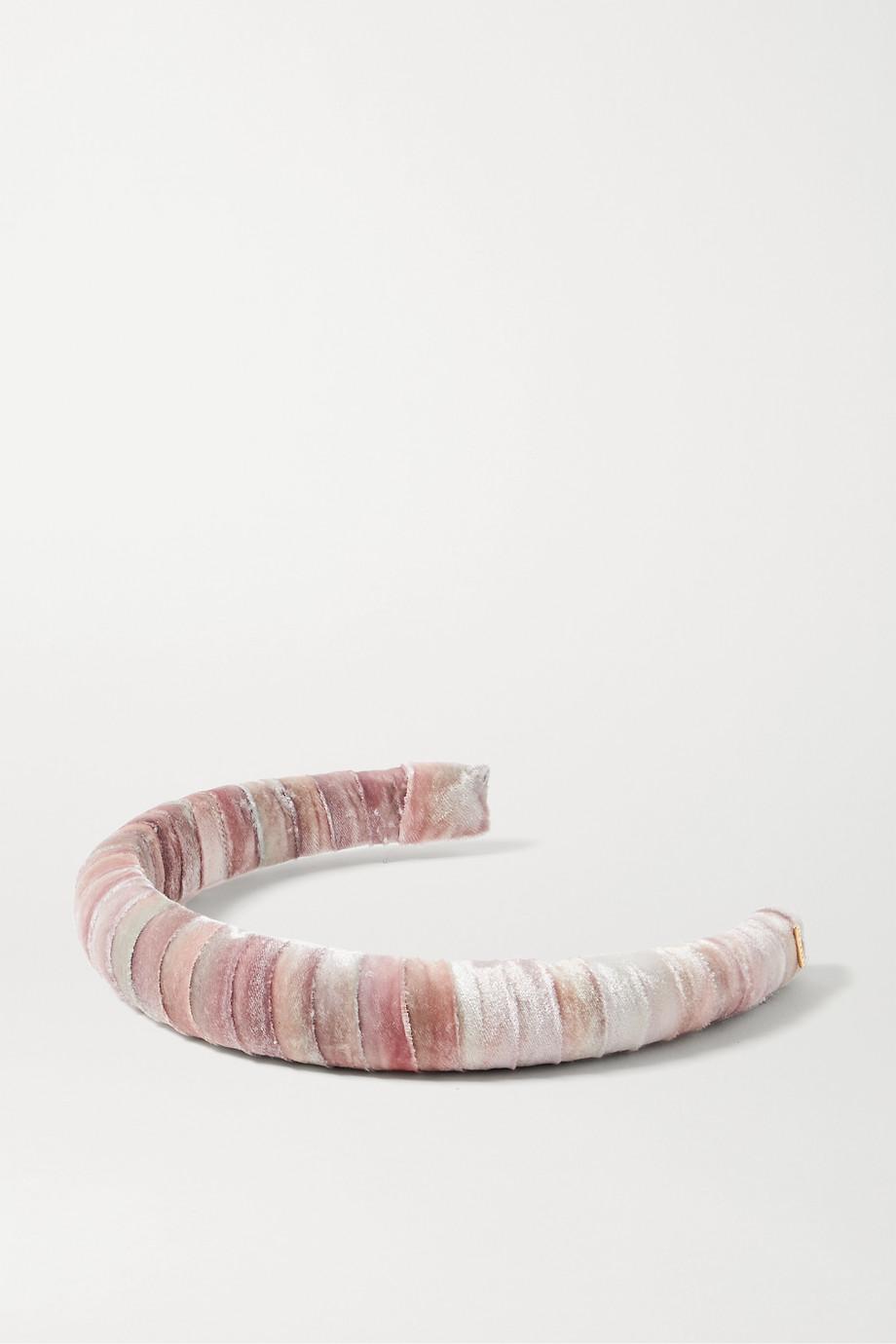 LELET NY Tie-dyed velvet headband