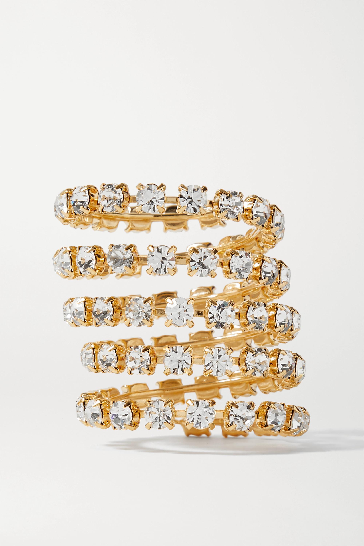 LELET NY Gold-tone Swarovski crystal hair cuff