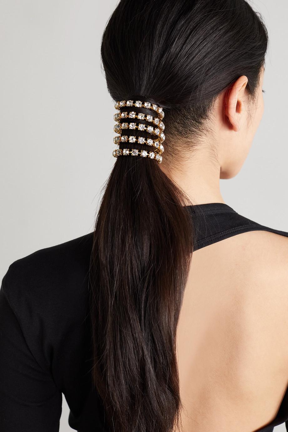 LELET NY Bijou pour cheveux en métal doré à cristaux Swarovski