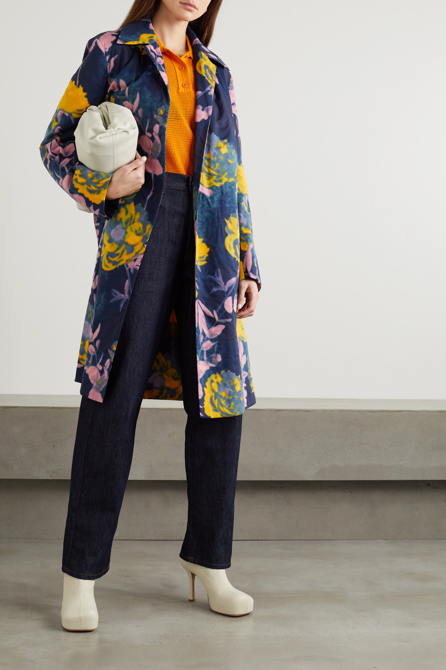Dries Van Noten Roltane floral-print cotton-voile coat