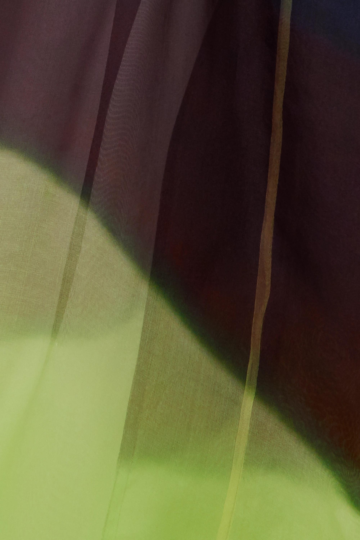 Dries Van Noten Trench-coat en organza de soie à ceinture Rozan