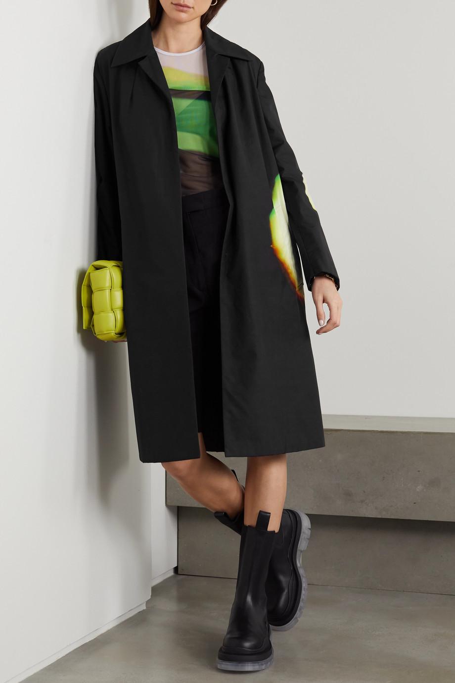 Dries Van Noten Printed cotton-poplin coat
