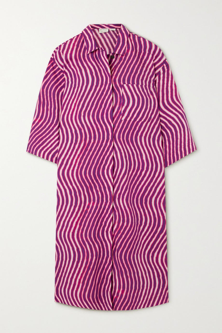 Dries Van Noten Dorali tie-dyed cotton-poplin shirt dress