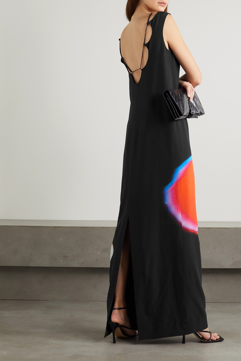 Dries Van Noten Dobson printed open-back silk-crepe maxi dress