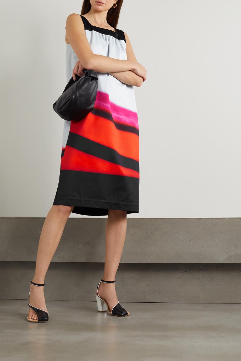 Dries Van Noten Dogos striped cotton-blend poplin dress