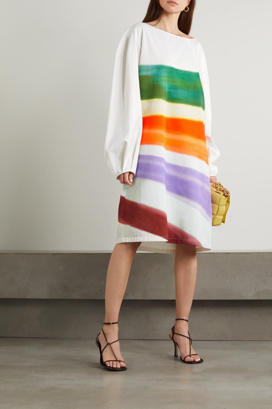 Dries Van Noten Striped woven dress